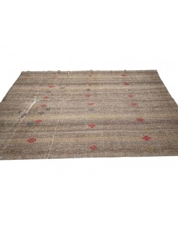 """Brown & Gray Vintage Modern Kilim - 6`4"""" x 9`6"""""""