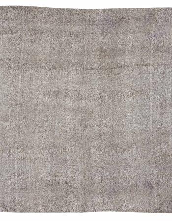 "Gray Large Vintage Modern Kilim Rug - 7`7"" x 8`8"""