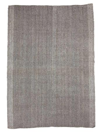 "Gray Modern Vintage Kilim Rug - 7`3"" x 10`2"""