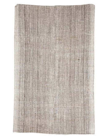 "Gray Vintage Turkish Kilim Rug - 6`3"" x 10`0"""