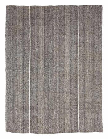 "Vintage Gray Unique Turkish Kilim Rug - 7`2"" x 9`4"""