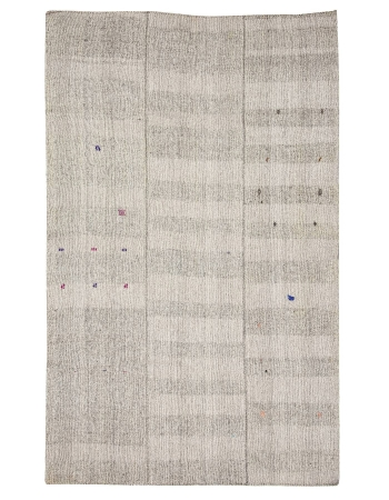 "Light Gray Modern Vintage Kilim Rug - 7`0"" x 11`3"""