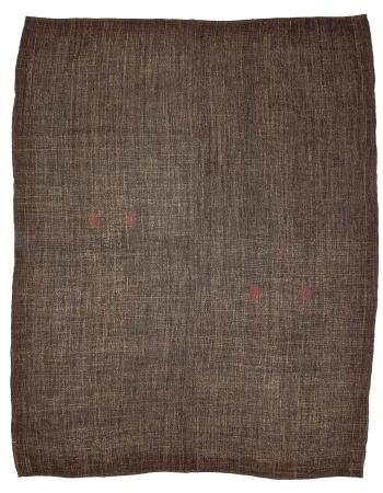 "Brown Large Vintage Turkish Modern Kilim Rug - 8`5"" x 10`6"""