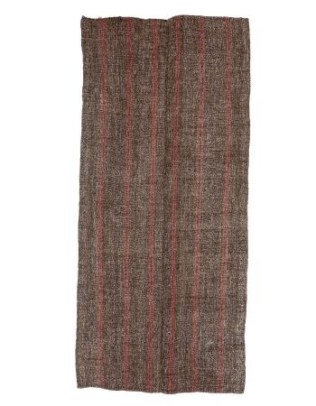 """Red & Brown Vintage Kilim Rug - 4`5"""" x 9`9"""""""