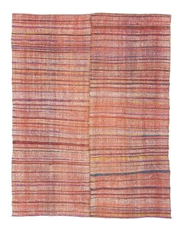 "Striped Vintage Turkish Rag Rug - 6`4"" x 8`5"""