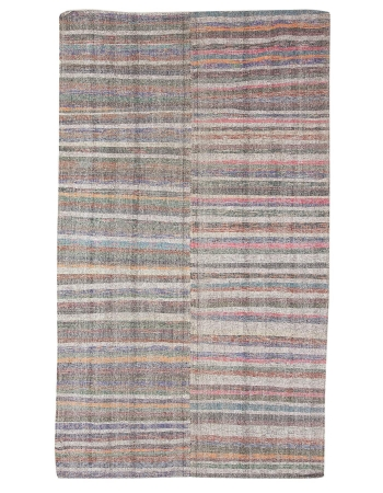 "Striped Vintage Decorative Kilim Rug - 6`4"" x 10`8"""
