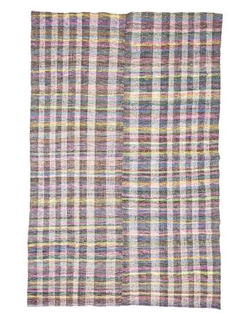 "Vintage Decorative Turkish Rag Rug - 6`8"" x 10`3"""