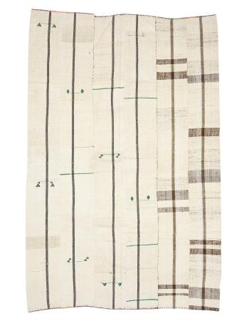 """Vintage Modern Turkish Kilim Rug - 6`3"""" x 9`4"""""""