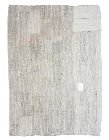 "Modern Gray Vintage Large Kilim Rug - 8`8"" x 11`10"""