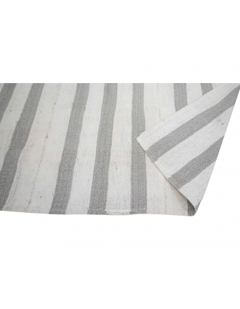 "Striped Vintage Modern Kilim Rug - 6`11"" x 7`1"""