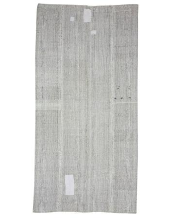 """Modern Vintage Turkish Kilim Rug - 6`11"""" x 13`4"""""""