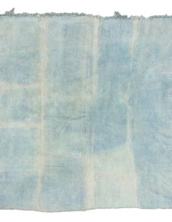 """Light Blue Squre Vintage Unique Cotton Kilim Rug - 9`10"""" x 9`10"""""""