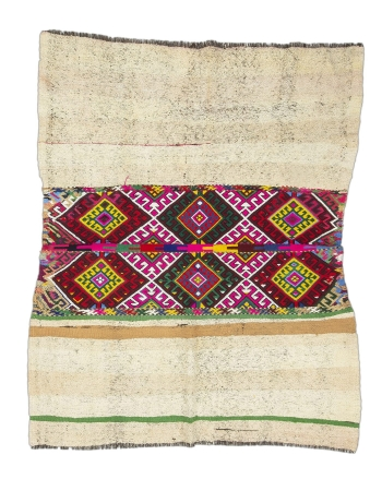 """Colorful Decorative Vintage Small Rug - 4`6"""" x 5`6"""""""