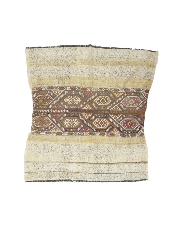 "Decorative Vintage Small Kilim Rug - 4`9"" x 4`11"""