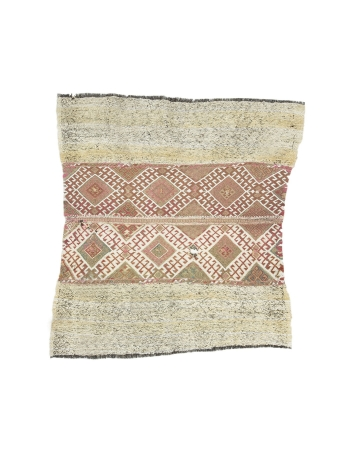 "Decorative Small Vintage Kilim Rug - 4`4"" x 4`8"""