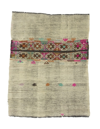 "Decorative Vintage Small Kilim Rug - 4`0"" x 5`2"""