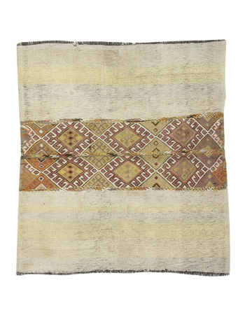 "Small Decorative Turkish Kilim Rug - 4`2"" x 4`8"""