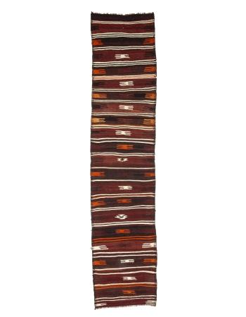 "Vintage Decorative Kilim Runner - 2`11"" x 13`1"""