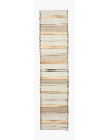 "Vintage Modern Kilim Runner Rug - 2`8"" x 10`7"""