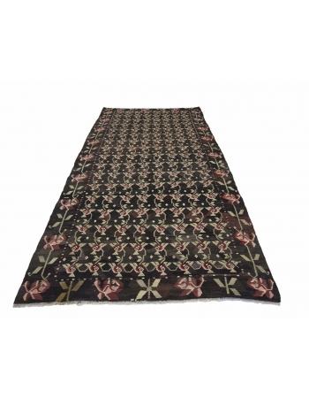 """Vintage Decorative Turkish Kilim Rug - 5`3"""" x 12`4"""""""
