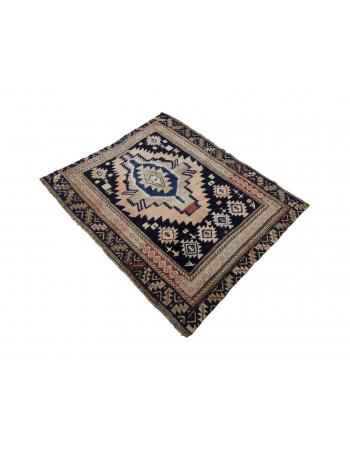 """Antique Decorative Caucasian Rug - 3`10"""" x 4`6"""""""