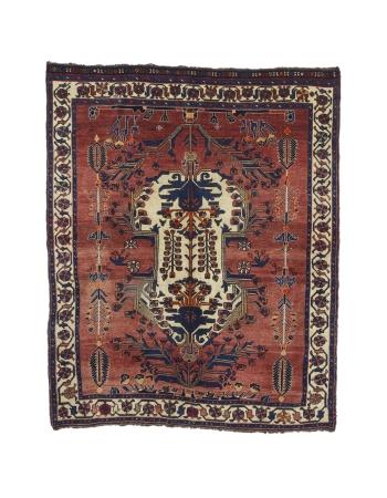 "Antique Decorative Wool Rug - 5`1"" x 6`3"""