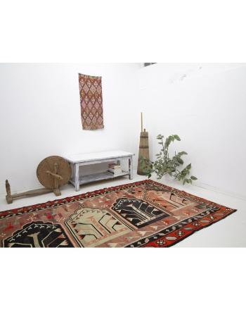 """Vintage One of a Kind Turkish Kilim Rug - 5`3"""" x 12`4"""""""