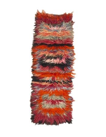 """Decorative Vintage Turkish Tulu Rug - 2`11"""" x 8`2"""""""