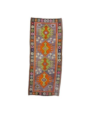"Unique Vintage Decorative Kilim Rug - 4`6"" x 10`4"""