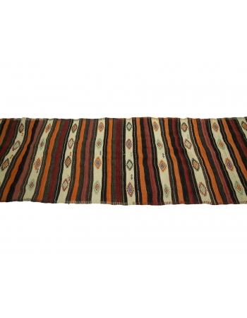 "Vintage Decorative Kilim Runner Rug - 3`0"" x 12`10"""