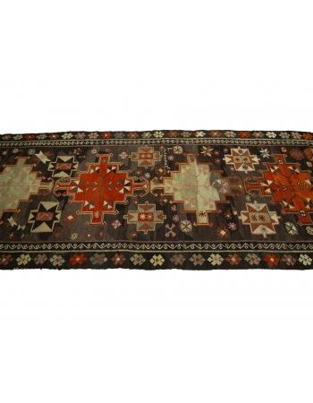 """Decorative Vintage Turkish Kilim Rug - 4`2"""" x 10`10"""""""