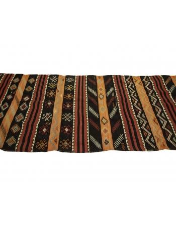 "Vintage Turkish Decorative Kilim Runner - 3`5"" x 13`1"""