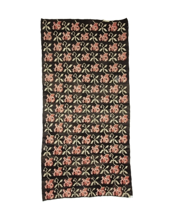 "Decorative Turkish Vintage Kilim Rug - 5`3"" x 10`9"""