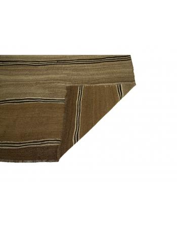 """Brown Vintage Turkish Kilim Rug - 3`1"""" x 4`1"""""""