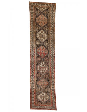 "Antique Malayer Gallery Size Rug - 4`7"" x 19`4"""