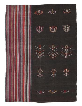 """Large Unique Vintage Kilim Rug - 8`10"""" x 11`10"""""""