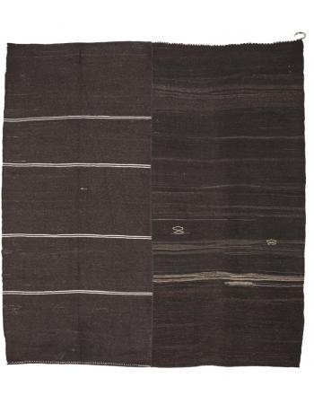 "Large Unique Brown Vintage Kilim Rug - 11`10"" x 12`10"""