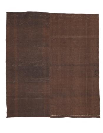 "Brown Square Vintage Kilim Rug - 8`10"" x 9`8"""