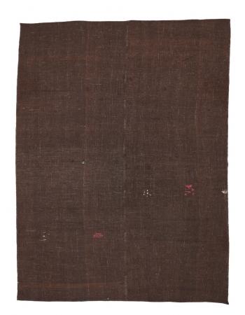 """Vintage Brown Modern Kilim Rug - 6`10"""" x 9`4"""""""