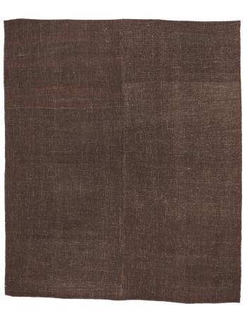 """Brown Vintage Turkish Kilim Rug - 6`7"""" x 7`10"""""""