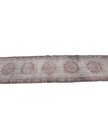 "Vintage Gray Turkish Runner Rug - 2`3"" x 11`6"""