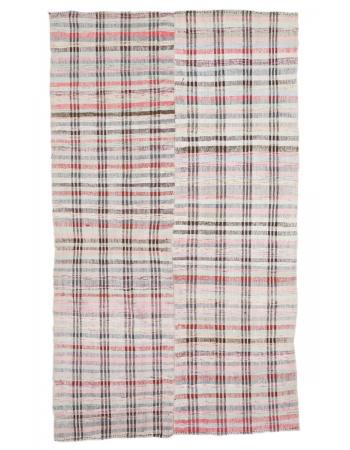 "Decorative Vintage Turkish Rag Rug - 6`2"" x 10`8"""