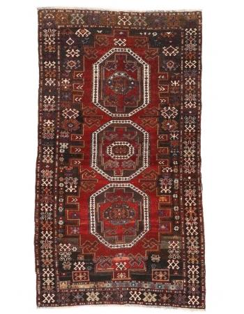 """Decorative Vintage Caucasian Rug - 3`7"""" x 6`7"""""""
