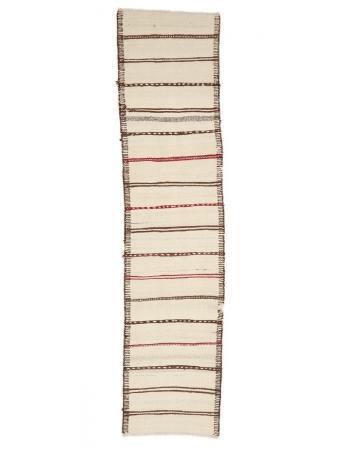 "Modern Vintage Kilim Runner Rug - 2`6"" x 10`9"""