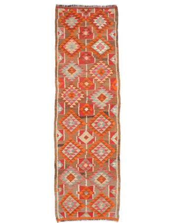 "Vintage Decorative Kilim Runner Rug - 3`0"" x 9`3"""