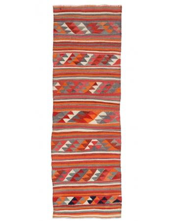 "Vintage Decorative Unique Kilim Runner - 3`1"" x 9`4"""