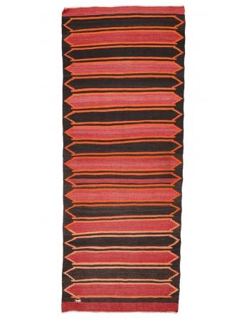 """Vintage Modern Turkish Kilim Rug - 4`1"""" x 10`10"""""""