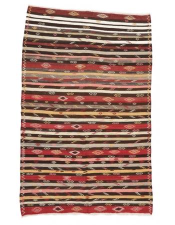 "Striped Decorative Vintage Kilim Rug - 6`2"" x 9`10"""