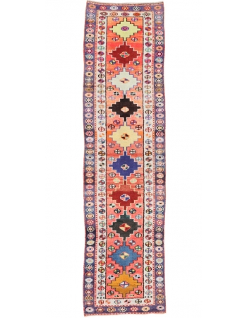 "Colorful Vintage Herki Runner - 2`8"" x 10`2"""