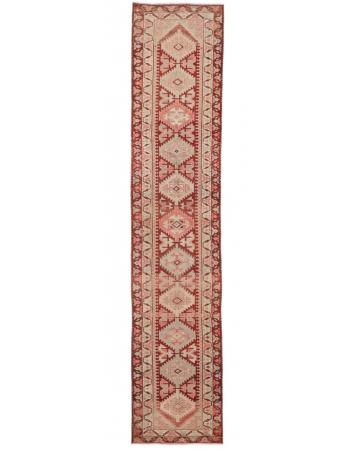 "Decorative Vintage Herki Runner Rug - 2`10"" x 13`8"""